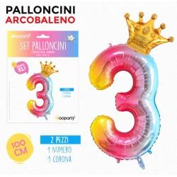 Set Palloncini arcobaleno...