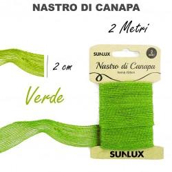 Nastro di canapa verde 2cmx2m