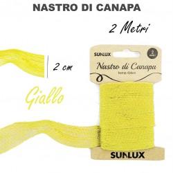 Nastro di canapa giallo 2cmx2m