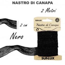 Nastro di canapa nero 2cmx2m