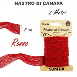 Nastro di canapa rosso 2cmx2m