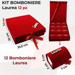Kit Bomboniere Laurea rosso...