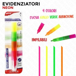 Evidenziatori 4colori fluo...
