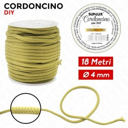 Cordoncino diy 4mm x 18mt oro