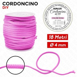 Cordoncino diy 4mm x 18mt rosa