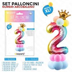 Set palloncini numero 2...