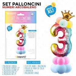 Set palloncini numero 3...