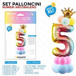Set palloncini numero 5...