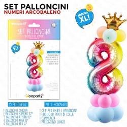 Set palloncini numero 8...