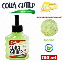Colla glitter verde 100ml...