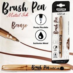 Brush pen calligrafia bronzo metal