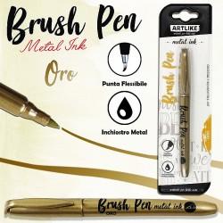 Brush pen calligrafia oro...