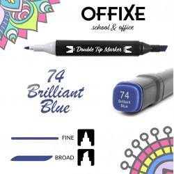 Double Tip Marker N74 Blu...