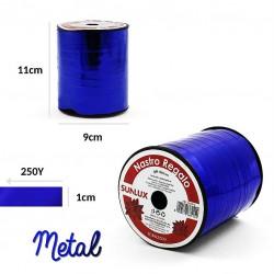 Nastro regalo blu metal 1cm...