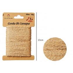 Cordoncino canapa 30cm