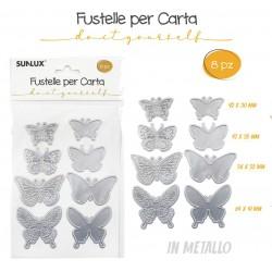Fustelle Farfalle 8pz per...