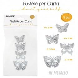 Fustelle 4pz farfalle varie...