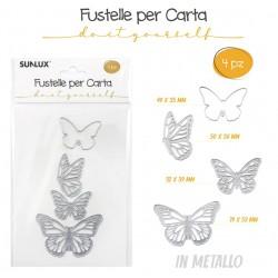 Fustella 4pz Farfalle in...