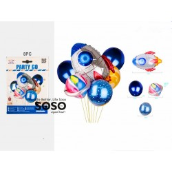 Set palloncini spazio 8pz