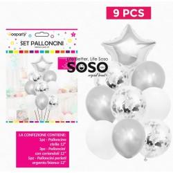 Set palloncini argento...