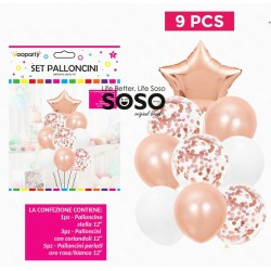 Set palloncini oro-rosa...