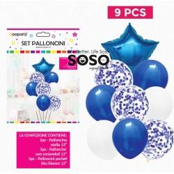 Set palloncini blu stella...