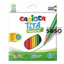 Carioca tita triangular 24col.