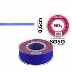 Nastro organza 6mmx60y blu