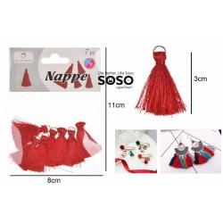 Nappe decorative 3cm 7pz rosso