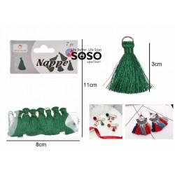 Nappe decorative 3cm 7pz verde