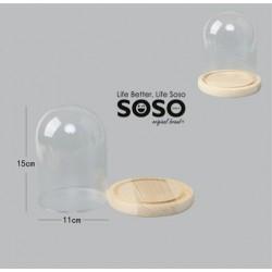 Campana in vetro 11x15 cm