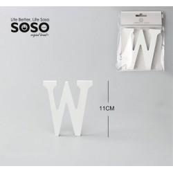 Lettera w in legno 11cm x...
