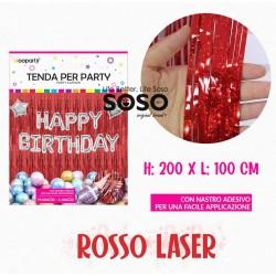Tenda per party rosso laser...