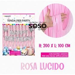 Tenda per party rosa lucido...