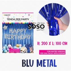 Tenda per party blu metal...