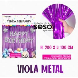 Tenda per party viola metal...