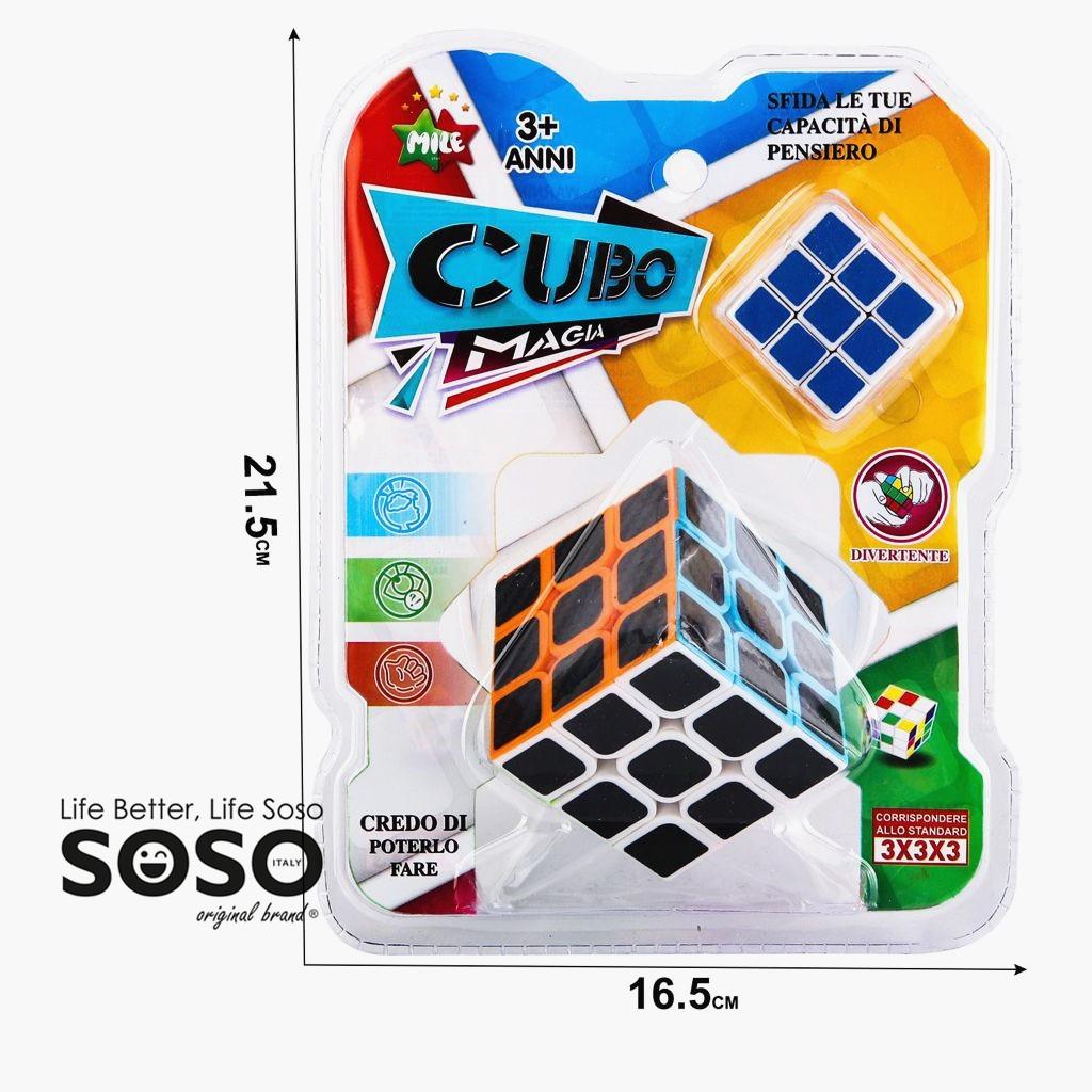 Cubo magico carbonio 3x3 versione magico di ultima generazione veloce e liscio materiale