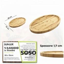 Vassoio in bambu 28x15cm