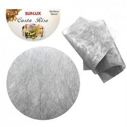 Carta da riso Tonda sintetica argento
