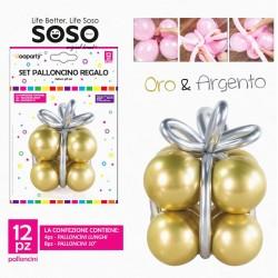 Set palloncino regalo oro &...