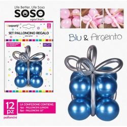 Set palloncino regalo blu &...