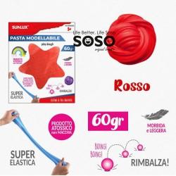 Pasta modellabile 60gr rosso