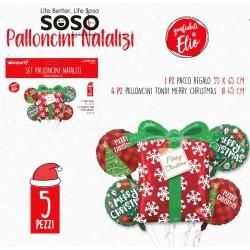 Set palloncini natalizi 5...