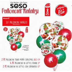 Set palloncini natalizi 8...
