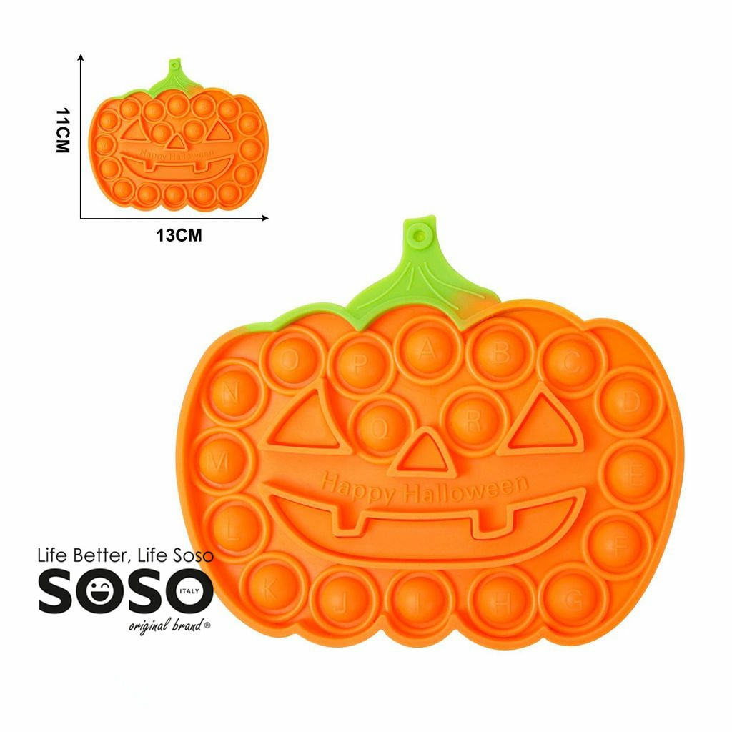 POP IT forma di zucca halloween 11 x 13 cm