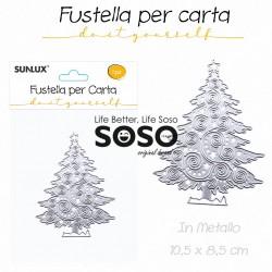 Fustelle per carta albero di natale in metallo 10.5 x 8.5cm - 1