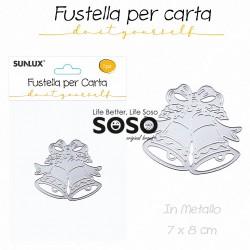 Fustelle per carta campanello di natale in metallo 7 x 8cm - 1