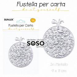 Fustelle per carta palline di natale in metallo 19 x 11cm - 1