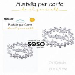 Fustelle per carta ghirlanda di natale in metallo 10 x 6.5cm - 1