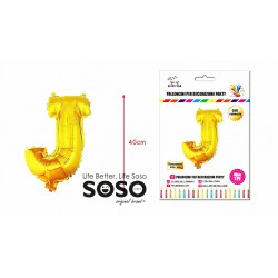 Palloncino mylar oro lettera j h.40cm - 1